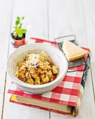 Speedy ricotta gnocchi with chilli oil