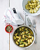 Sweet potato gnocchi with burnt sage butter