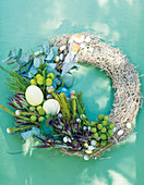 A decorative Easter wreath