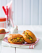 Classic curried mince vetkoek (South Africa)