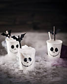Jack skeleton cups and batty straws