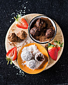 Almond and cocoa energy balls