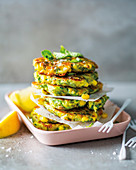 Corn and baby marrow drop fritters