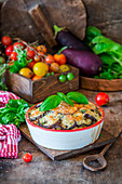 Eggplant bake with minced meat