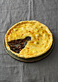 Venison pie with wild mushrooms