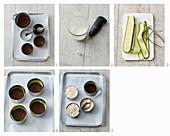 Kalte Mini-Quiche mit Zucchini und Lachs zubereiten