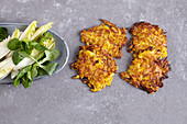 Potato and pumpkin fritters