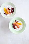 Mandelmilchreis aus der Tajine mit Zitrusfrüchten