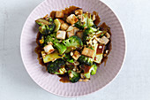 Stir-fried broccoli with tofu (Vietnam)