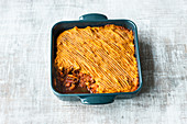 Gluten-free shepherd's pie with a sweet potato topping