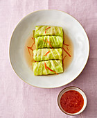 Vietnamese 'Surf & Turf' cabbage wraps
