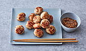 Vietnamese meatballs with a peanut dip