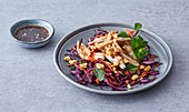 Vietnamese chicken and peanut salad