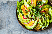 Mexican cos lettuce salad with a citrus dressing