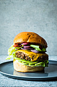 Tex-Mex burger with cheddar and avocado