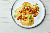 Tex-Mex avocado pancakes