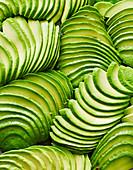 Fanned avocado sliced