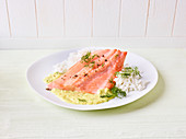 Salmon trout with dill cream (slow cooking)