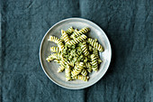 Fusilli with kale pesto
