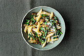 Penne with Sicilian chard sauce