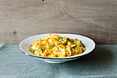 Farfalle with a butternut squash and ricotta sauce