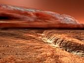 Storm on Mars, illustration