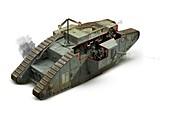 Mark V British tank, First World War, illustration