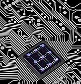 Quantum computing, conceptual illustration