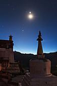 Conjunction over Ganden Monastery