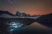 Starry night over Nepalese village