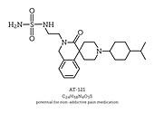 Painkiller molecule AT-121