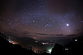 Milky Way over mountains, China