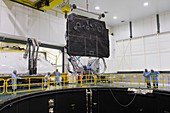 Solar Orbiter spacecraft sunshield testing