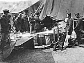 Baron von Richthofen's crashed aeroplane, 1918