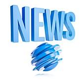 News logo, illustration