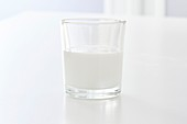 Milk of magnesia in a glass