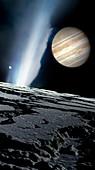 Jupiter seen from Europa, illustration