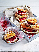 Squashed Plum and Ricotta Sandwiches