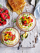 Orange and Mint Ricotta with Raspberries