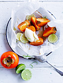 Honey and Lime Baked Persimmons