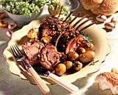 Lammkarree mit Kräuterkruste