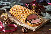 Christmas styled Beef wellington