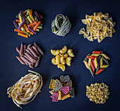 Homemade pasta that can be found in different shapes and colours to make every plate look fun and delicious