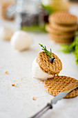 Sweet Merengue Nuts with Oatmeal Cookies and Nut Butter