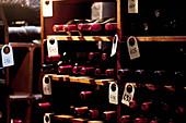 A vintage wine cellar