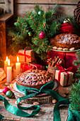Dundee Cakes (schottische Früchtekuchen) zu Weihnachten