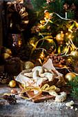 Vanilla hazelnut Christmas cookies