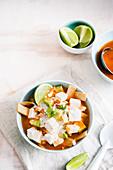 Sopa de tortilla (Mexican tortilla soup)