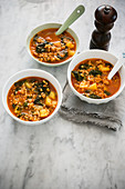 Winter farro soup (Italy)
