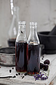 Home made Cola in vintage bottles